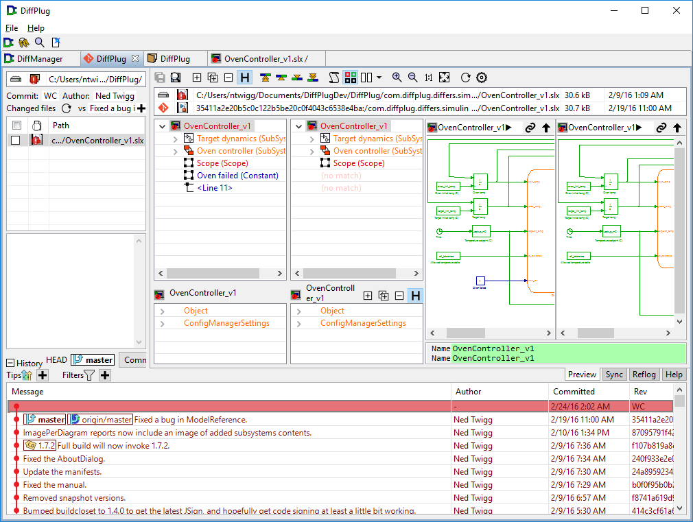 Editor and differ for text images Simulink and more | DiffPlug