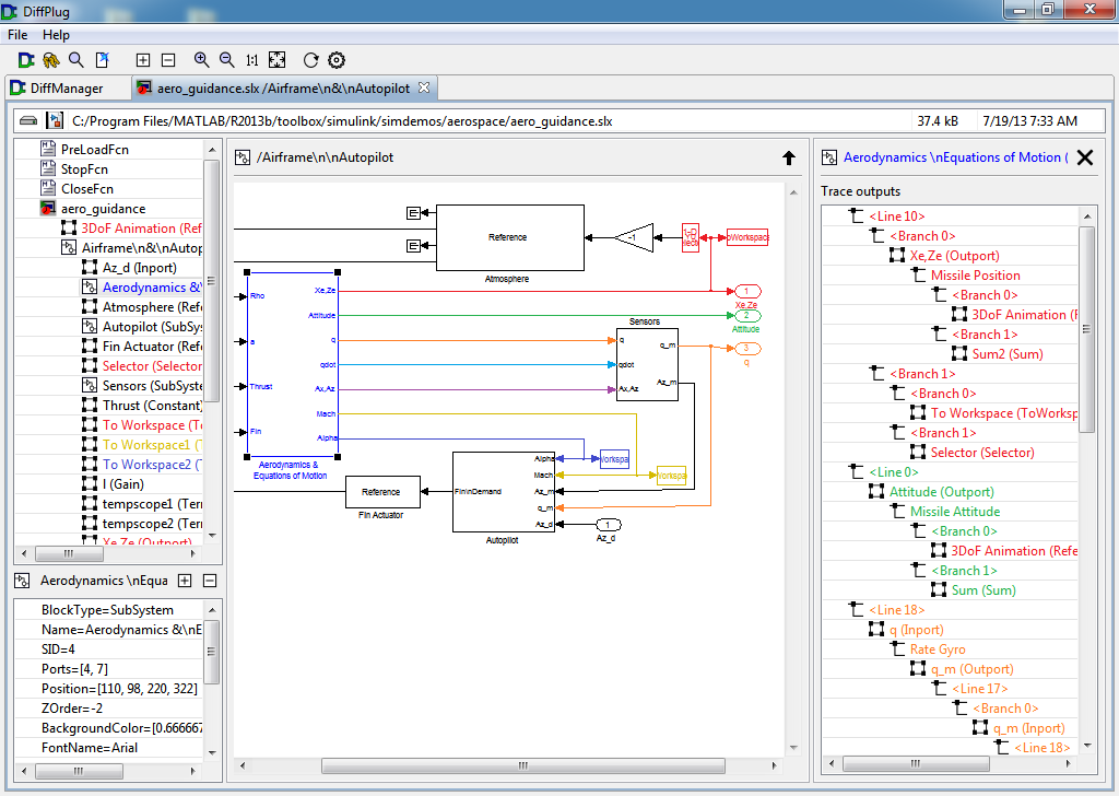 Free Simulink viewer and differ   DiffPlug