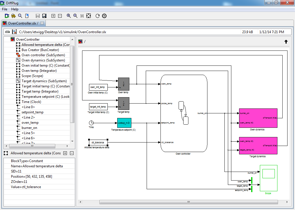 Free Simulink viewer and differ | DiffPlug